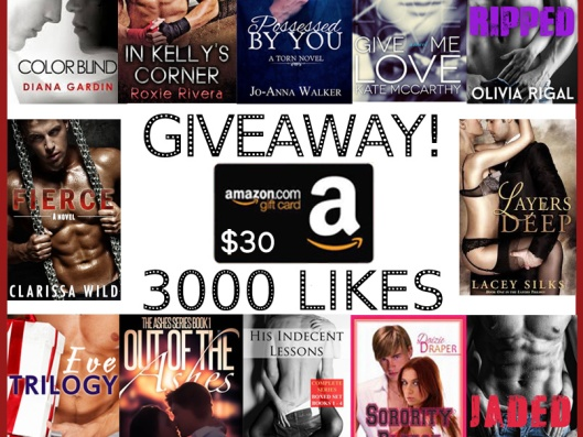 giveaway likes 3000